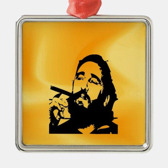 Castro Fidel cuban revolution Metal Ornament