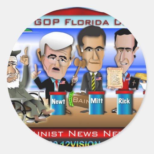 Castro Florida Debate Classic Round Sticker