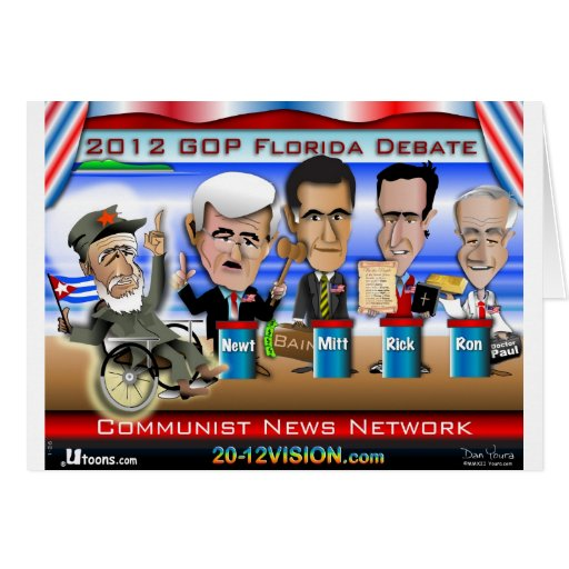 Castro Florida Debate Greeting Cards