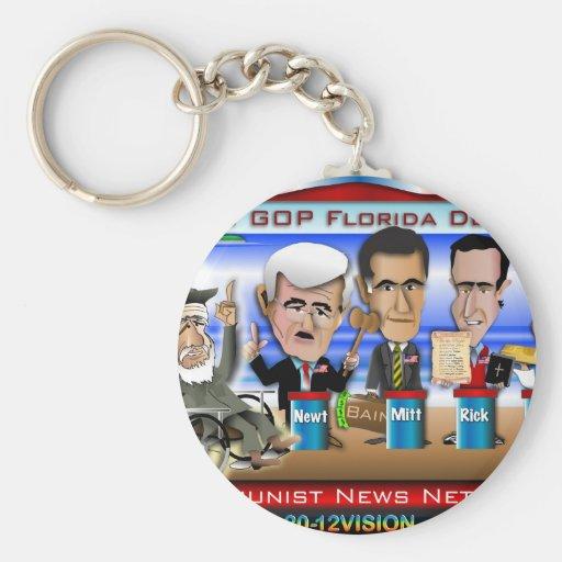 Castro Florida Debate Keychains