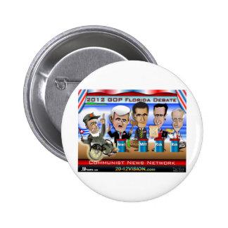 Castro Florida Debate Pinback Button