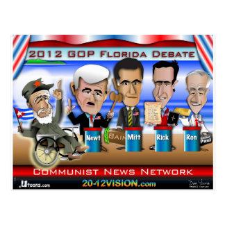 Castro Florida Debate Postcards