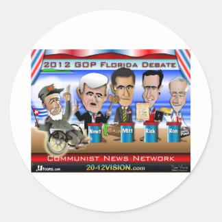 Castro Florida Debate Round Sticker