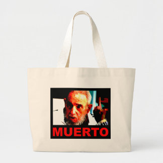 Castro muerto (colores auténticos) large tote bag