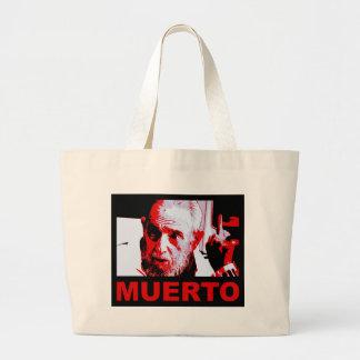 Castro muerto (rojo) large tote bag