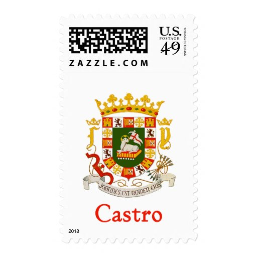 Castro Shield of Puerto Rico Postage Stamps