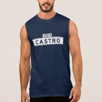 Castro St., San Francisco Street Sign Sleeveless Shirt