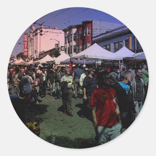 Castro Street Fair Classic Round Sticker