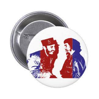 Castro y Che Pin Redondo De 2 Pulgadas