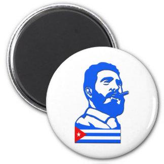 Castro y Cuba Imán Redondo 5 Cm