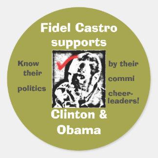 castrosealofapproval, Fidel Castro , supports, ... Classic Round Sticker