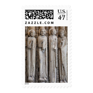 casts of statues from the facade of Chartres Postage