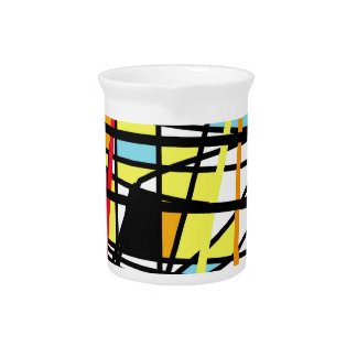 Casual abstraction beverage pitcher
