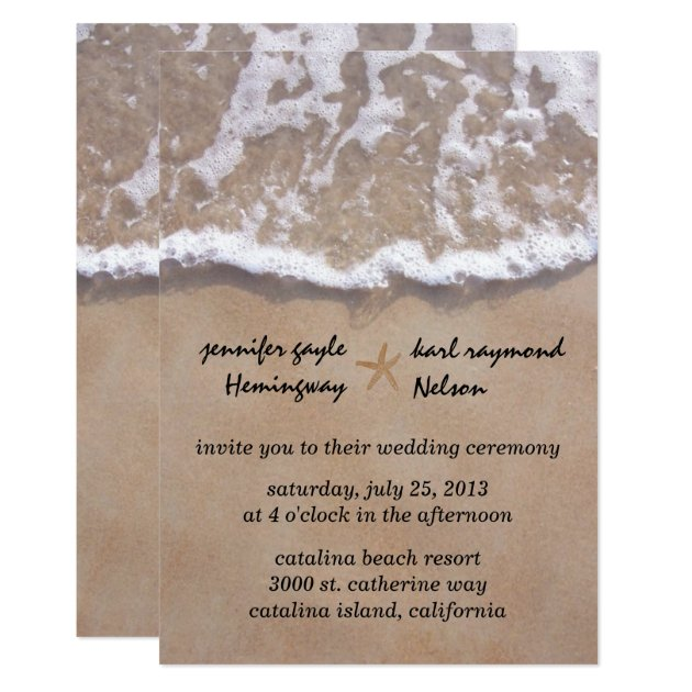 beach theme wedding invitations  announcements  zazzle, Wedding invitations