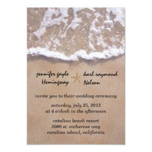 Casual Beach Theme Wedding Invitation 5
