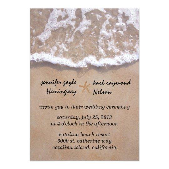 Casual Beach Theme Wedding Invitation Zazzlecom
