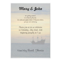 Casual Beach Wedding Invitation