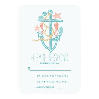 Casual beach wedding RSVP 3.5x5 Paper Invitation Card