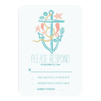 Casual beach wedding RSVP Personalized Invitations