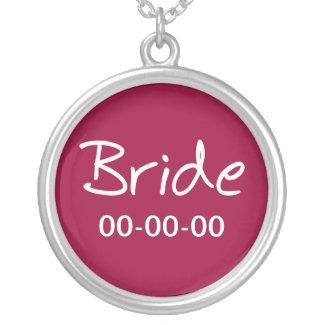 Casual Bride Pendant Necklace