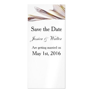 Casual Brown Sheer Fabric Save the Date Magnet