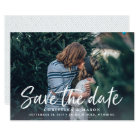 Casual Brush | Photo Save the Date Card