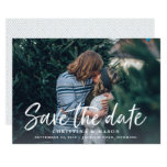 Casual Brush | Photo Save The Date Card at Zazzle
