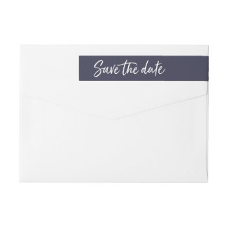 Casual Brush | Save the Date Return Address Wrap Around Label