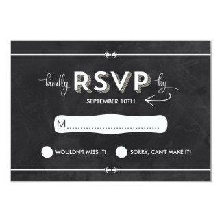 Casual Chalkboard RSVP Personalized Invite