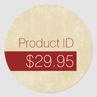 Casual Chic Beige Modern Product Price Tag Classic Round Sticker