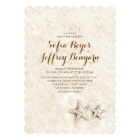 Casual elegant beach wedding invitations