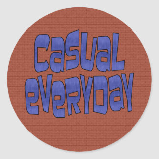 casual everyday classic round sticker