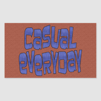 casual everyday rectangular sticker