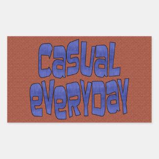 casual everyday rectangular stickers
