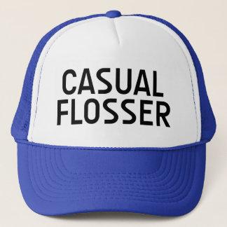 CASUAL FLOSSER fun slogan hat