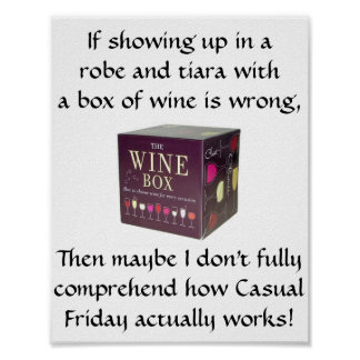 Casual Friday - Funny Poster