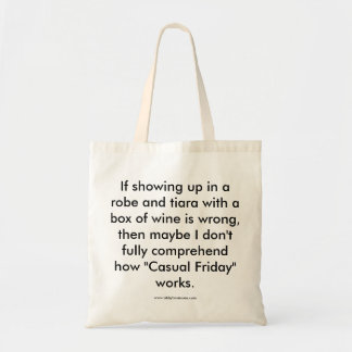 """Casual Friday"" tote bag"