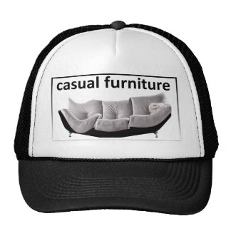 Casual furniture, very casual hats
