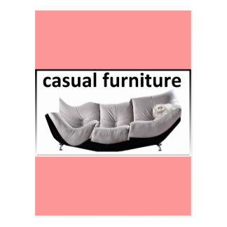 Casual furniture, very casual postcard