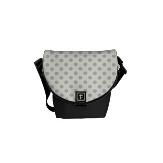 Casual Gray Dot Pattern Messenger Bags
