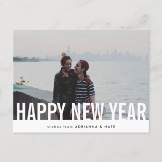 Casual Happy New Year Modern Holiday Photo