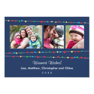 Casual Lights Holiday Photo Card