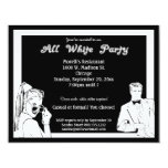 Casual Or Formal White Attire Party Card