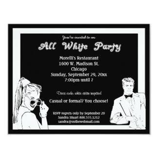 "Casual Or Formal White Attire Party 4.25"" X 5.5"" Invitation Card"