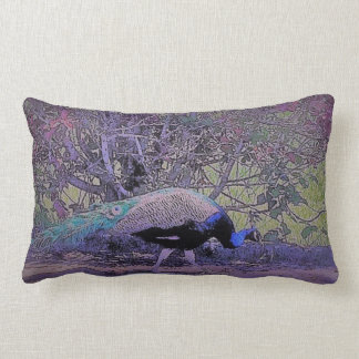 Casual Peacock Lumbar Pillow