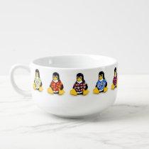 Casual Penguins Soup Mug