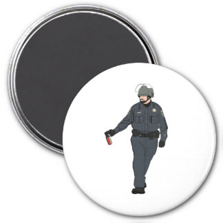 Casual Pepper Spray Cop in Color Fridge Magnets