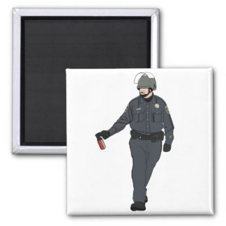 Casual Pepper Spray Cop in Color Refrigerator Magnet