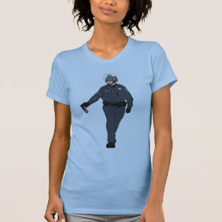 Casual Pepper Spray Cop in Color T Shirt