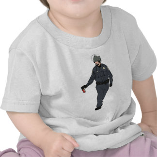 Casual Pepper Spray Cop in Color T-shirts